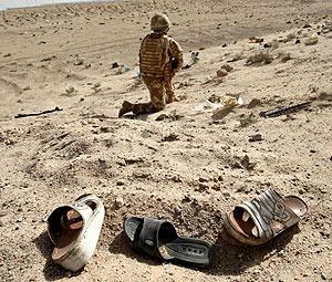 Un soldado británico en Irak (Foto: AFP | Essam Al-Sudani)