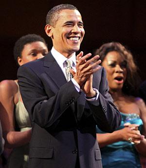 Obama en el cumpleaños del senador Edward M. Kennedy. (Foto: AP | H. N. Ghanbari)