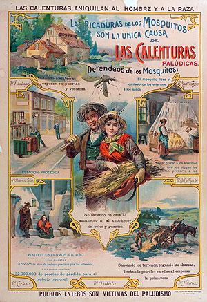 Cartel de propaganda de la lucha antipalúdica, 1920 (Colección Pedro Alonso, Barcelona)