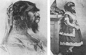 Ilustraciones de Julia Pastrana realizadas en 1857. (Foto: 'American Journal of Human Genetics')