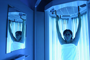 Sesiones de rayos ultravioleta en un solarium. (Foto: Conchitina)