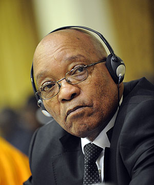 El presidente Jacob Zuma. (Foto Afp)