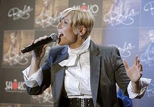 La cantante Rosa López, durante la presentación de su último disco. (Foto: Efe)