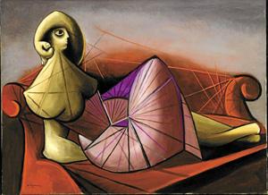 'Femme sur diván' (1942), de Óscar Domínguez. (Foto: Enrique Domínguez)