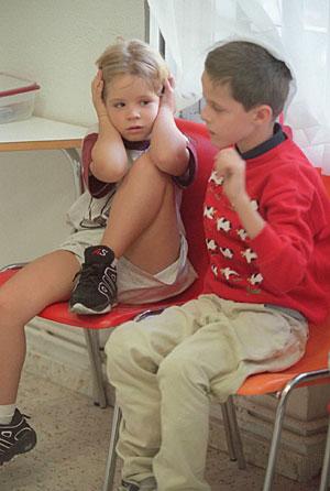 Alumnos del Colegio Leo Kanner para niños autistas. (Foto: Angel Casaña)