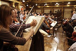 Ensayo de la filarmónica de Viena (Foto:Reuters | Herwig Prammer)
