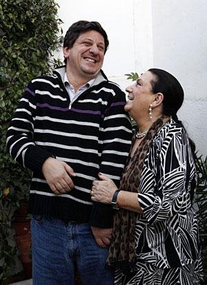 Maria Isabel Bayonas Ibarra y su hijo David. (Foto: Sergio Enriquez)
