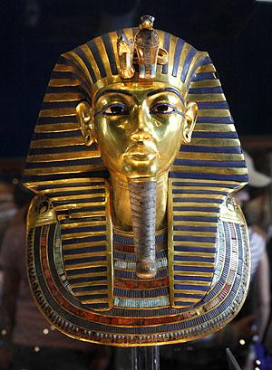 Máscara de oro del famoso faraón. (Foto: AP)