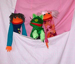 Tres de las marionetas del proyecto (Foto: Universidad de Granada)