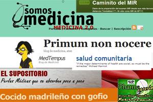 Fotomontaje con varios blogs médicos (Foto: EL MUNDO)