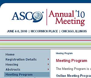 Un pantallazo de la página web de la reunión.