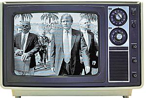 Montaje fotográfico con un televisor antiguo (Foto: El Mundo)