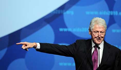 Bill Clinton, durante su intervención | AFP