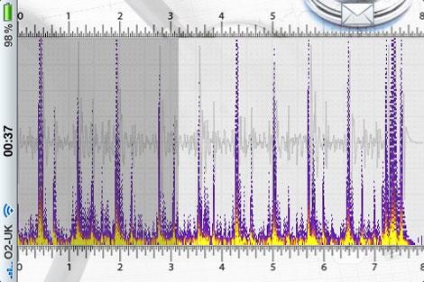 Una imagen del programa iStethoscope.