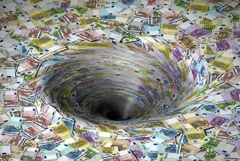 Emisión de billetes de euro.  Corbis