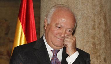 Moratinos, en su despedida de Exteriores.| J. Hidalgo