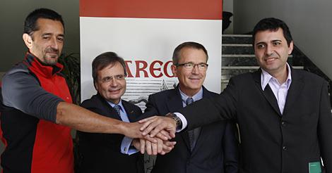 De izda. a drcha., Pedro Cavadas, Rafael Matesanz, Tomás Gómez y Joan Pere Barret. | Javier Barbancho