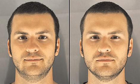 Un voluntario tras dormir bien (izquierda) y ser privado de sueño (derecha). | Foto: BMJ