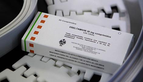 Envase de oseltamivir (principio activo del Tamiflu). | El Mundo