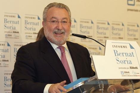 El ex ministro durante su presentación.| El Mundo