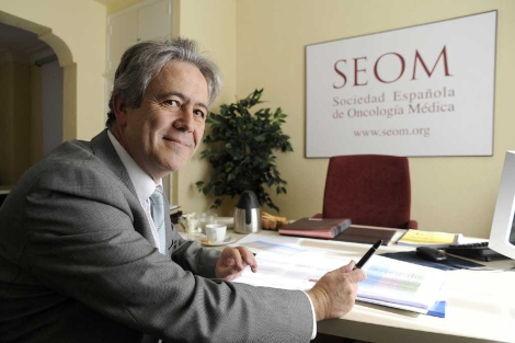 Emilio Alba, presidente de la SEOM.  Bernardo Díaz