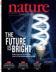 La portada del último número de la revista científica 'Nature'