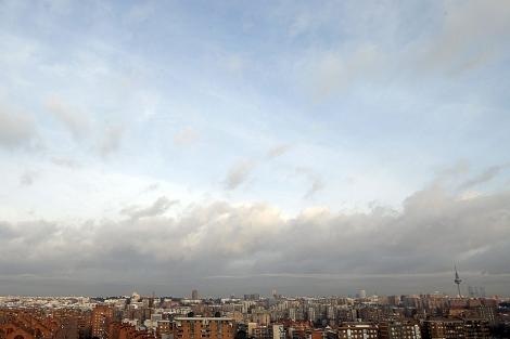 Imagen del cielo de Madrid esta misma mañana.| JuanJo Martin