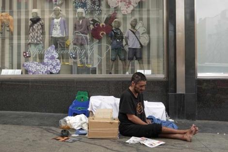 Las personas 'sin techo' están aumentando por la crisis. | Antonio Heredia