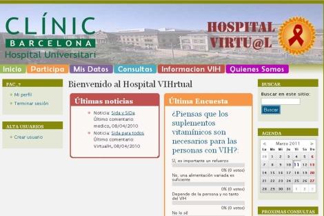 Aplicación del Hospital Virtual.  Hospital Clínic