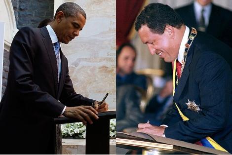 Dos zurdos contemporáneos, Barack Obama y Hugo Chavez (AP   Reuters)