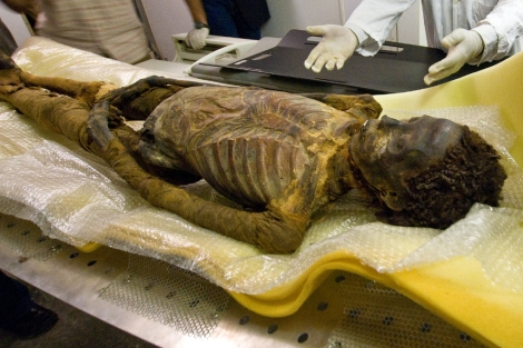 Momia de la princesa Ahmose-Meryet-Amon. | Michael Miyamoto