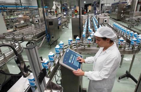Imagen de archivo de una factoría láctea en el País Vasco. | Foto: Mitxi