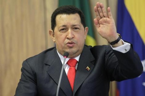 El presidente venezolano, Hugo Chávez, durante una rueda de prensa | Reuters