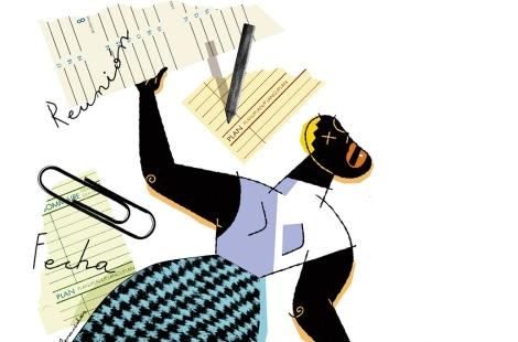 El estrés se debe a las muchas responsabilidades de la mujer. | Ilustración: El Mundo