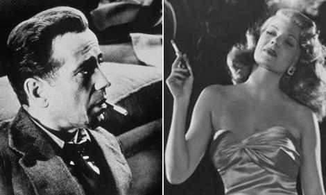 Imágenes de Rita Hayworth como 'Gilda' y Humphrey Bogart en 'El sueño eterno'.   El Mundo