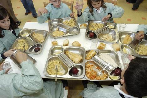 Menú escolar de uno de los colegios analizados. | Rubén García