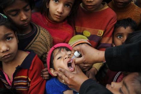 Campaña de vacunación en Amritsar, la India. | Afp