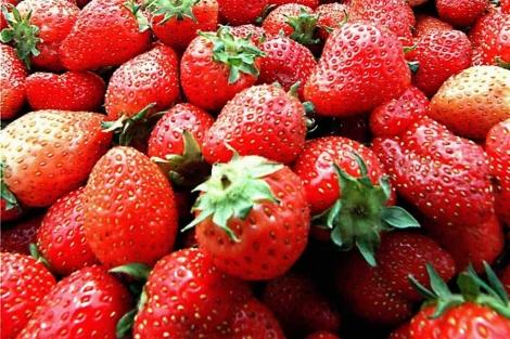 Las fresas tienen un alto contenido en antioxidantes.