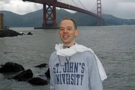 Trent Arsenault, donante de esperma, en una de las imágenes que aparecen en su web.