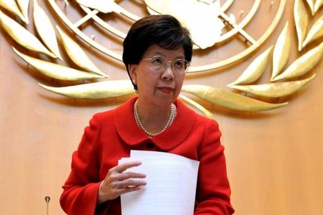 Margaret Chan, directora de la OMS, en Ginebra. | AFP
