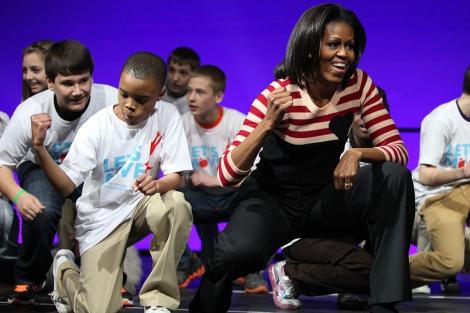 Michelle Obama, durante la celebración del segundo aniversario de 'Let's Move'. | Afp