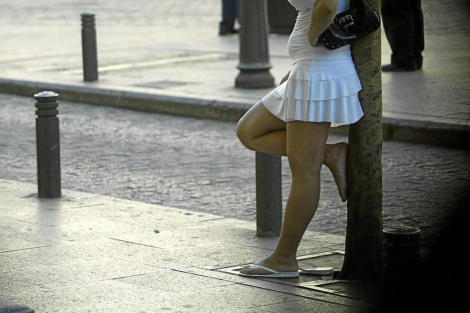 Imagen de una prostituta en Madrid. | Kike Para
