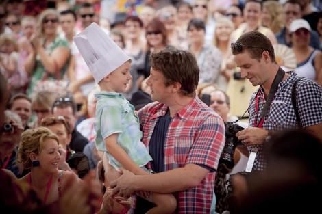 Jamie Oliver durante su visita a Australia. | Efe