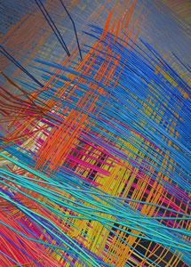Imagen del cerebro de un mono que se asemeja a una rejilla de cables eléctricos.   'Science'