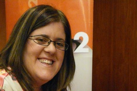 María Paz, durante la presentación de su libro.