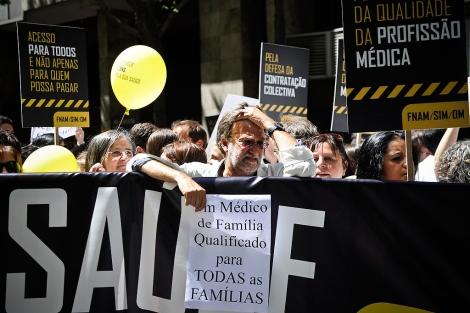Manifestación de médicos en Portugal.  Patricia de Melo   Afp