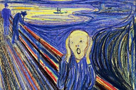 El grito de Munch representa a un hombre moderno en un momento de angustia y desesperación