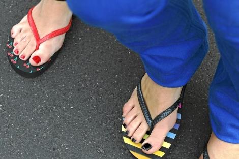 Flip-flops de colores | Tanya Lacey