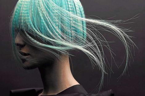 Una modelo de peluquería.| Gustavo López