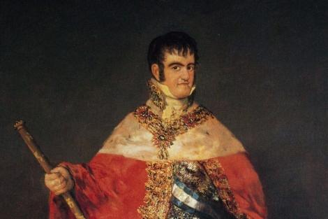 Goya retrató el problema maxilofacial de Fernando VII.